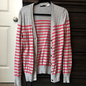 BDG Urban Outfitters red and grey striped cardigan